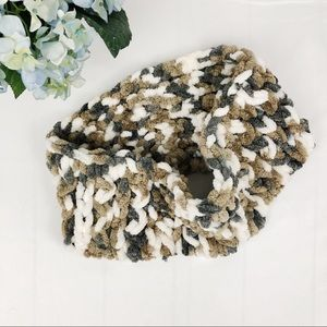 Handmade Criss Cross Knitted Cowl Neck